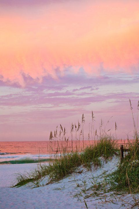 Sunset... Pensacola Beach...I wish I could step right into this picture and feel the sand on my bare feet.