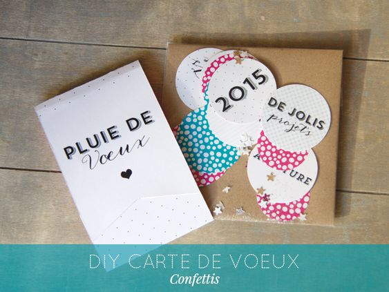 diy carte de voeux 2015 confettis stationery pinterest blog et bricolage. Black Bedroom Furniture Sets. Home Design Ideas