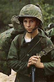 vietnam war - The average age of most soldiers during the war was 19.  This picture really shows just how young they were.