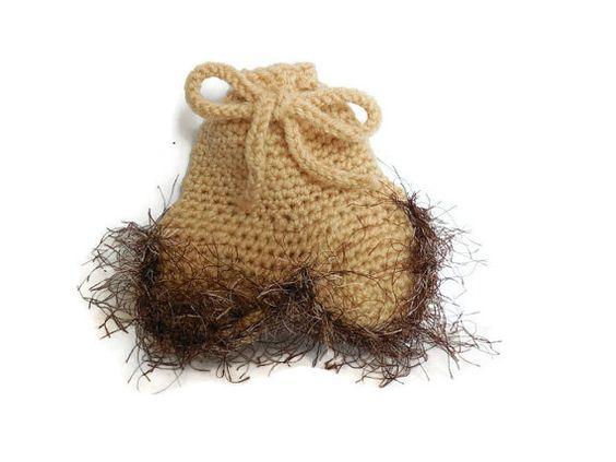 Crochet Tea Bag Holder Nuts Drawstring Pouch par JamieKnitsandBits