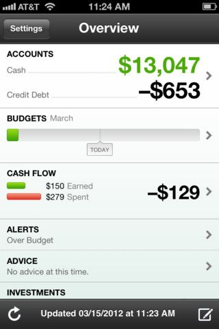 Mint.com Personal Finance – manage your money, budgets, expenses and bills with this handy iPhone #app