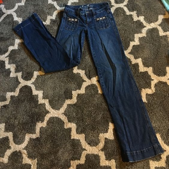 "Juicy Couture Wide Leg Jeans 24 Perfect condition. No holes. No stains. Tight jeans that bell at the bottom. Adorable but too long on me. I'm 5'4"" fit adorable with heels or wedges but I never wear them. Juicy Couture Jeans Flare & Wide Leg"