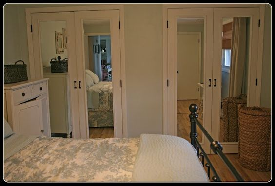Midwest Cottage & Finds shows how to change up bi-folding closet doors.