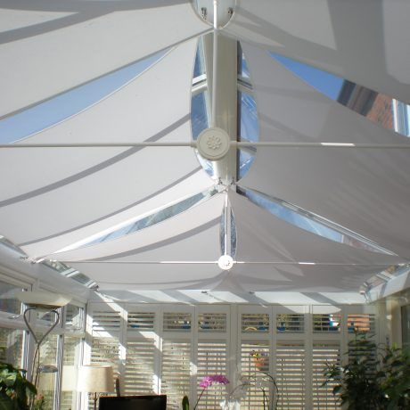 A Shade Blind For Conservatory Roof Sails In Yorkshire In 2020 Conservatory Roof Conservatory Roof Blinds Shades Blinds