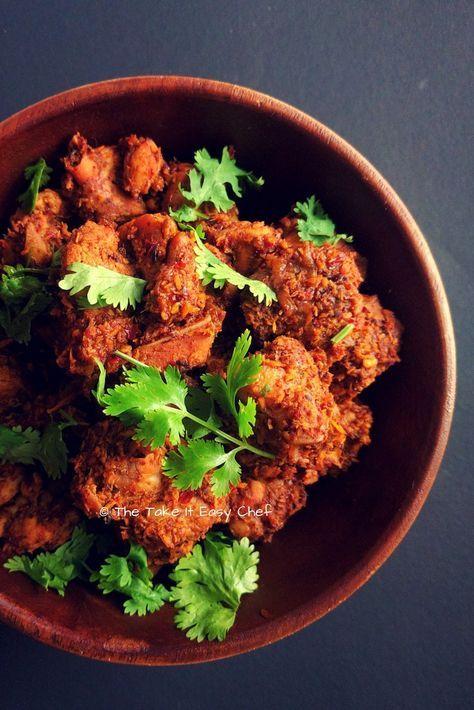 Kori Sukka Mangalore Style Dry Chicken Curry Recipe Curry Chicken Recipes Indian Food Recipes Curry Chicken