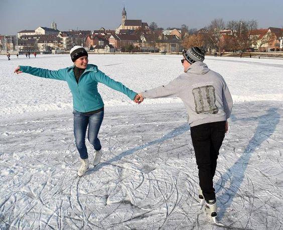 Böblingen Januar 17 - der See ist zugefroren