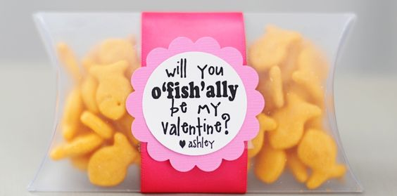 Free printable Goldfish cracker tags: Valentine Idea, Kids Valentine, Valentinesday, Valentine Gift, Holiday Valentine, Goldfish Valentine