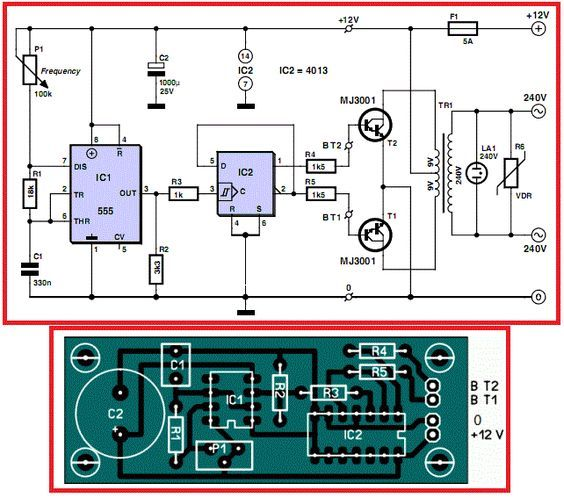 12v To 220v Inverter Circuit Diagram Pcb Layout Non Stop Engineering Circuit Diagram Electrical Circuit Diagram Electronic Circuit Projects