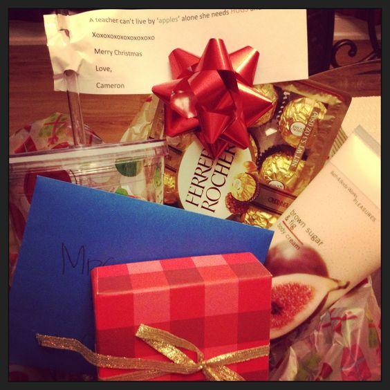 Cameron's kindergarten teachers gift