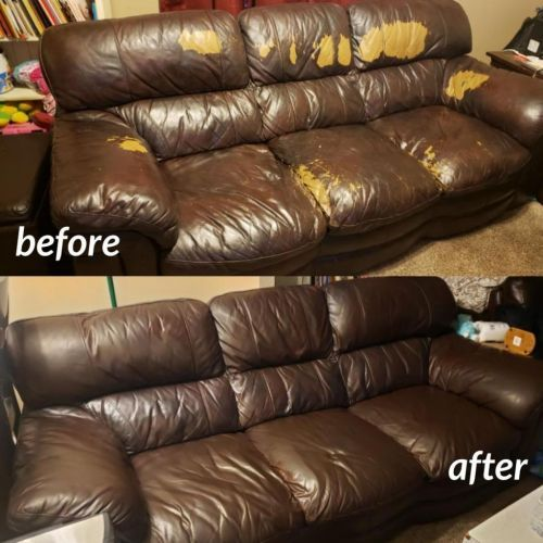 Mahogany Leather Furniture Dye Vinyl Dye Refinish Condition Leather Couch Repair Leather Furniture Repair Leather Restoration