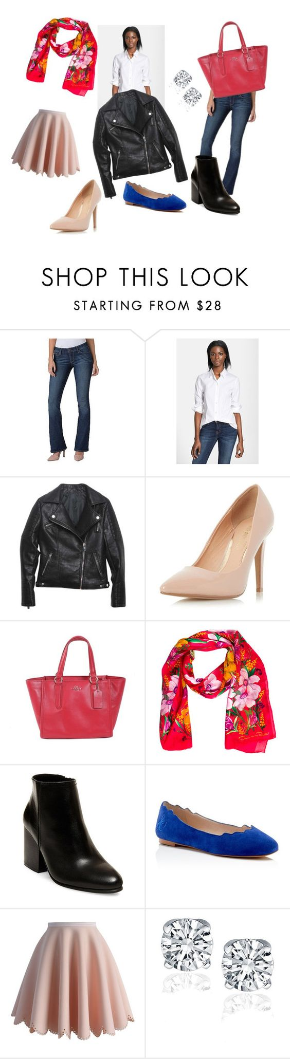10 Basics for Spring by aejaie on Polyvore featuring Theory, Relaxfeel, Chicwish, dENiZEN, Steve Madden, Dorothy Perkins, Sam Edelman, Coach and Oscar de la Renta: