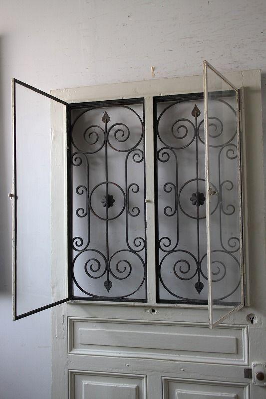 アイアン飾り 玄関ドア 木枠付き フランス アンティークドア 直輸入販売 Boncote プロお勧めの 使える ドア アンティーク ドア 木枠 玄関ドア