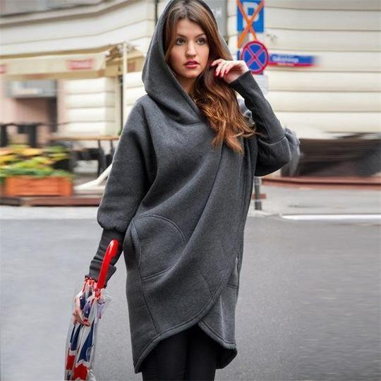Oversized sweaterponcholong hoodiedress