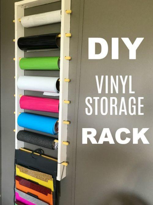 Diy Vinyl Storage Rack For Rolls And Sheets Diy Vinyl Storage