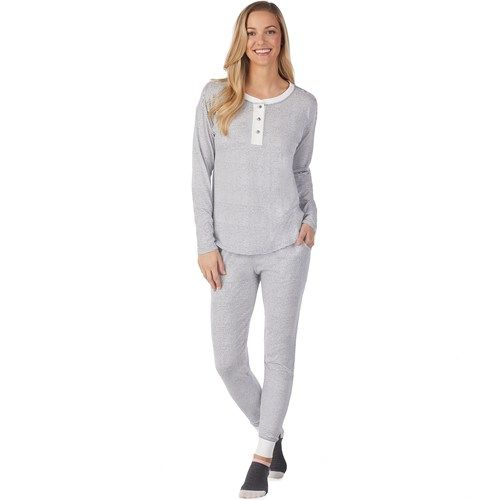 Women S Cuddl Duds Off Duty Cool Tee Banded Bottom Sleep Pant