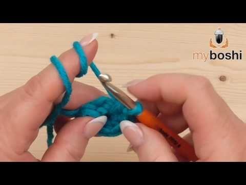 Häkeln lernen - Der doppelte Luftmaschenanschlag - YouTube