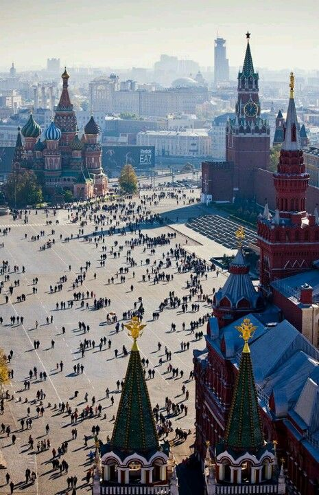 Red Square in Moscow, #Russia. It was called 'Red Square' long before the communists took control during the Russian Revolution of 1917-1919.