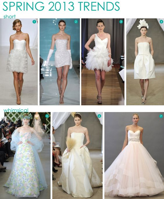 @Paige Marro - bottom right! Fashion: Spring 2013 Bridal Trends  #wedding #design #dresses
