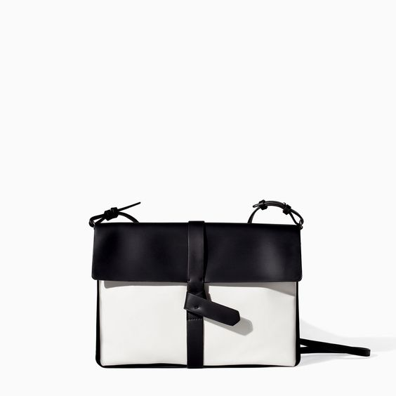 ZARA - NEW THIS WEEK - TWO-TONE DOUBLE GUSSET CLUTCH