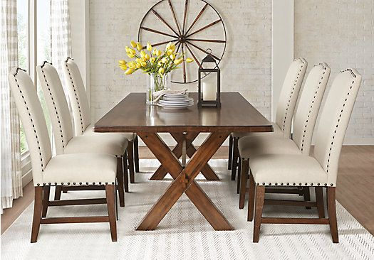 Twin Lakes Brown 5 Pc 72 In Rectangle Dining Room Dining Room Table Set Dining Room Sets Dinning Room Sets