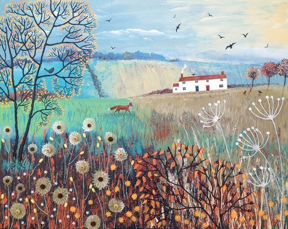 *spring Sale* Across Autumn Fields by Josephine Grundy:
