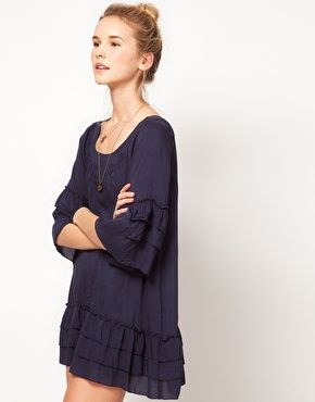 Pepe Jeans Dress With Flute Sleeves