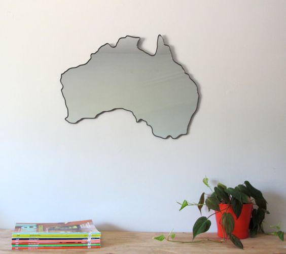 Australia Mirror by fluxglass on Etsy, $158.00