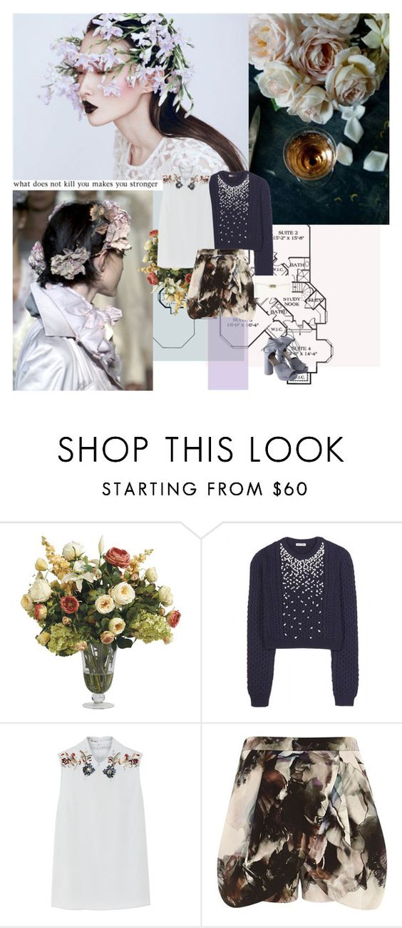 """890. Petal"" by dreamingofamelia ❤ liked on Polyvore featuring Ethan Allen, Miu Miu, River Island, MTWTFSS Weekday and Cole Haan"