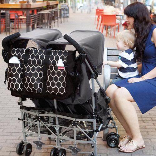 Le sac à langer double spécialement conçu pour les poussettes doubles cote a cote