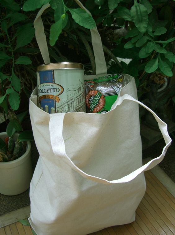 Grocery Bags (16 x 14)   Natural Cotton Canvas $3.99 each /12 for $2.99  each