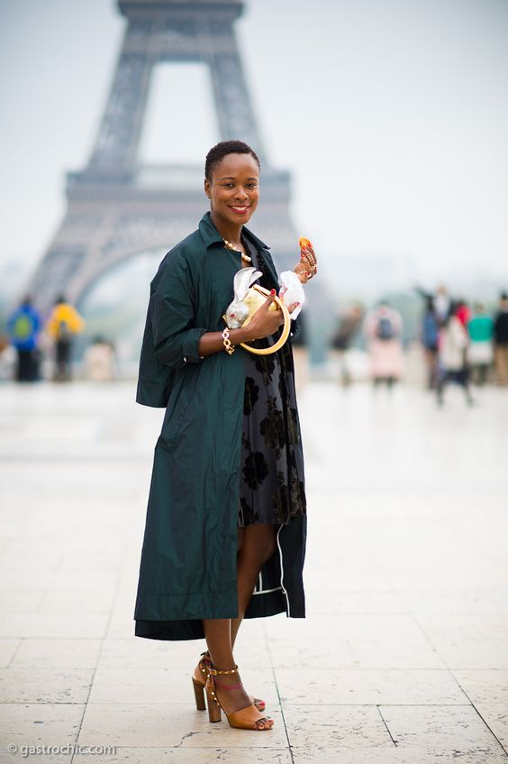 Shala Monroque and the Eiffel Tower