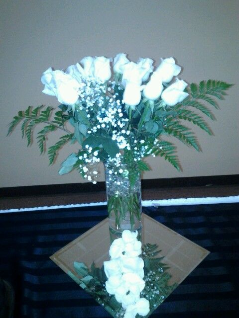 Simple all white roses