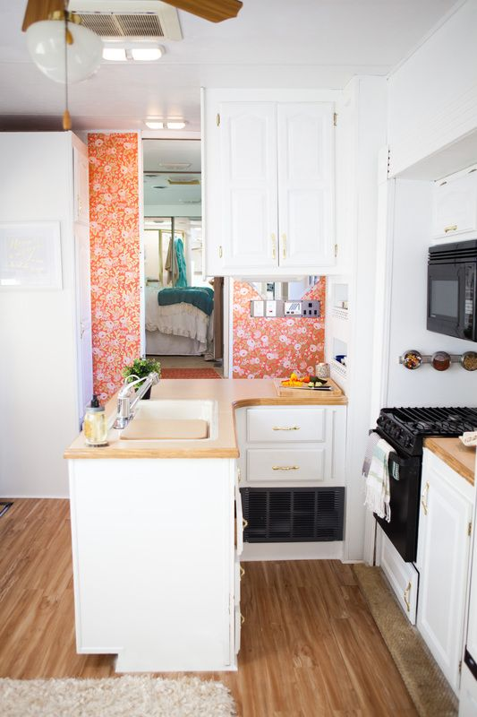 5th wheel camper campers and the doors on pinterest for Design caravan renovation ideas home