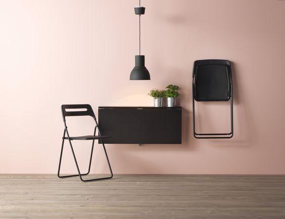 NISSE klapstoel   #IKEAcatalogus #nieuw #2017 #IKEA #IKEAnl #stoel #inklapbaar #zwart #tafel #klaptafel #zitplek #keuken #woonoplossing