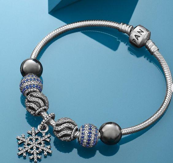 Pandora Bracelet Design Ideas price 36500 using pandora charms Pandora Xmas 2013 Trends Ice Blue