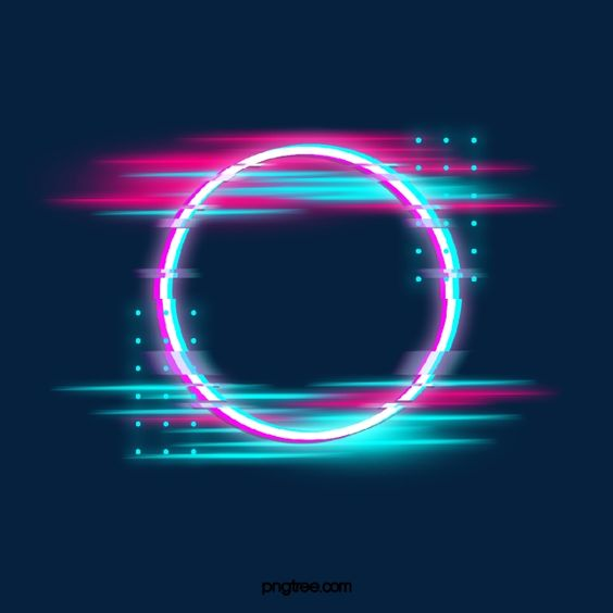 Blue Red Fault Neon Round Border Photo Holographic Circular Png Transparent Clipart Image And Psd File For Free Download Neon Backgrounds Neon Wallpaper Iphone Background Images