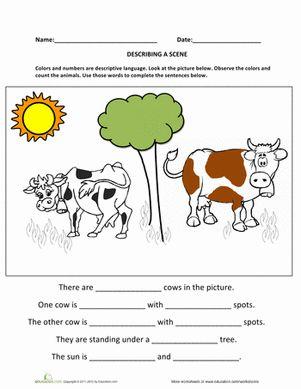 Describing a Scene | Sentences, Writing and Scene