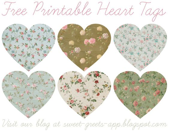 Free Printable Heart Tags | Flickr - Photo Sharing!