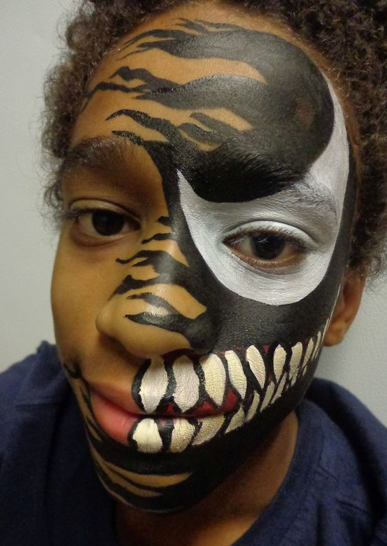 Venom Face Paint | Painted Expressions Face Paint and ...