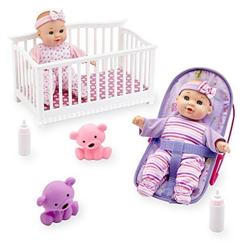 You Me Mini Twins 8 Inch Deluxe Baby Doll Set Gift Girl Toys