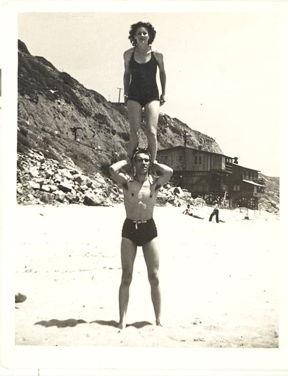 11. At the beach in 1938