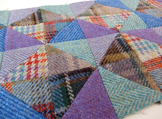 Tweed patchwork by Very Berry Handmade