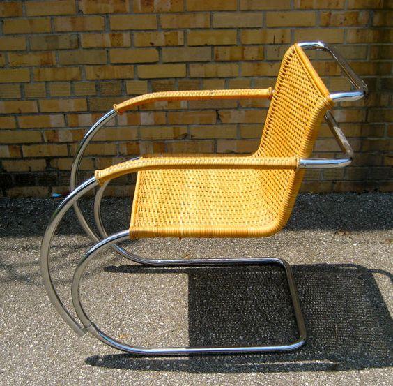 Mies Van Der Roe cane chair