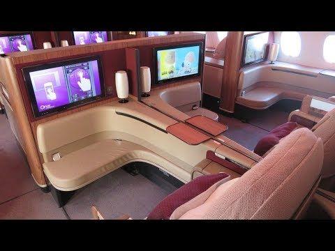 Qatar Airways A380 First Class Doha To Paris Al Safwa Lounge Https Www Youtube Com Watch V Vh0acn Qatar Airways Private Jet Interior Business Class Flight