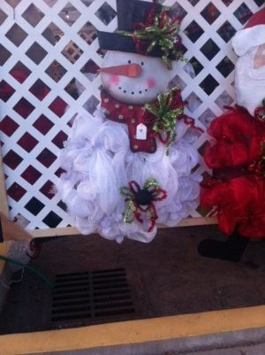 mesh snowman wreath | Mesh snowman wreath. Want to make this!!!! by lorraine.emery1