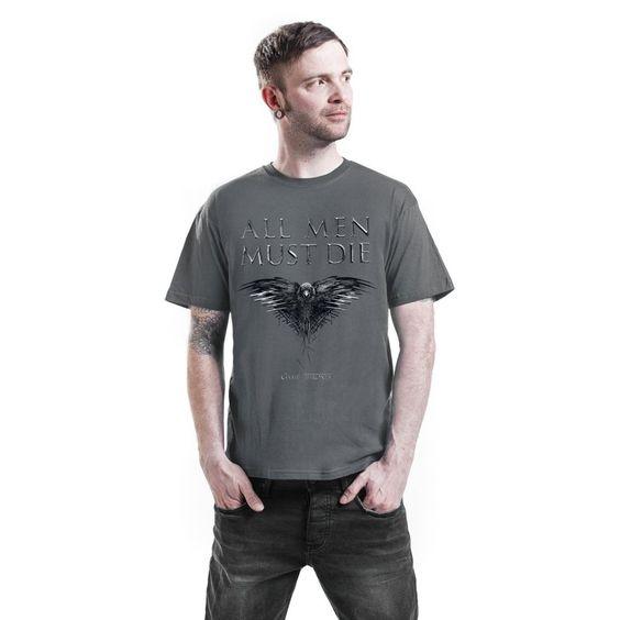 """T-Shirt Game of Thrones """"All men must die"""""""