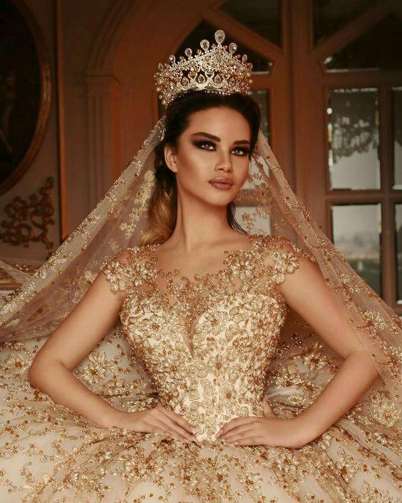 Vestidos De Xv Años Blanco Con Dorado Cv Magazine