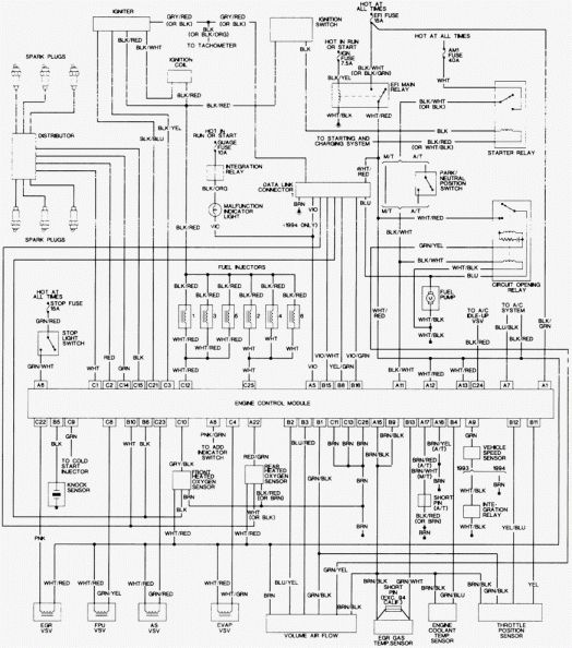 12 1993 Toyota Camry Engine Wiring Diagram Electrical Wiring Diagram Toyota Diagram