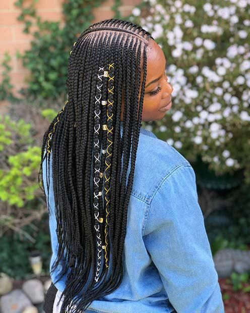 10 Badass Tribal Braids Hairstyles To Try Tribalbraids Hairstyle Braids Braidshairstyles Hair Styles Braided Hairstyles Girls Hairstyles Braids