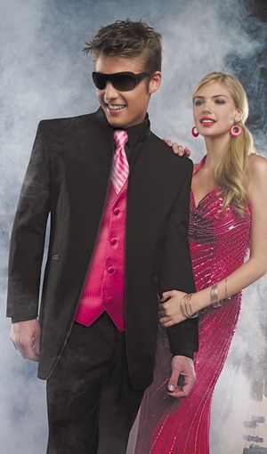 Prom Tuxedo Rentals With Any Color Vest And Tie To Match